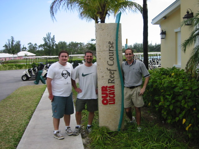 Mark, Jason, and  Jeff golfing